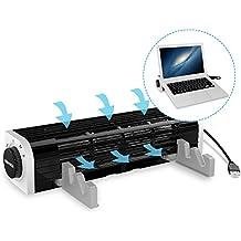 Notebook Kühlpads, SOWTECH USB Powered Notebook Kühler Laptop Lüfter 3 Geschwindigkeiten Querstromventilator für Laptop, Tablet und Smart Phone mit Flexibler und verstellbarer Ständer