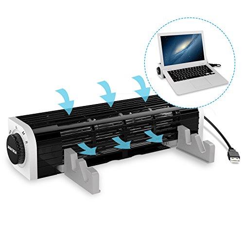Notebook Kühlpads, SOWTECH USB Powered Notebook Kühler Laptop Lüfter 3 Geschwindigkeiten Querstromventilator für Laptop, Tablet und Smart Phone mit Flexibler und verstellbarer Ständer - Master Laptop Kühler