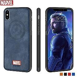 DiMei Marvel Avenger iPhone XS Hülle Stoßfest Vollschutzhülle für iPhone XS Captain America