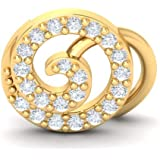 Perrian's 18KT Yellow Gold and Diamond Nose Pin For Women