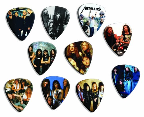 Metallica Silver Edition Edition Set Of 10 Loose Chitarra Pick Plettro Plettris Plekt...