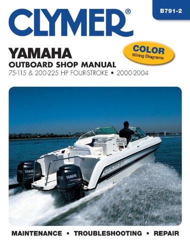 Yamaha Outboard Shop Manual 75-115 & 200-225 HP Four-Stroke 2000-2004 (CLYMER MARINE REPAIR)