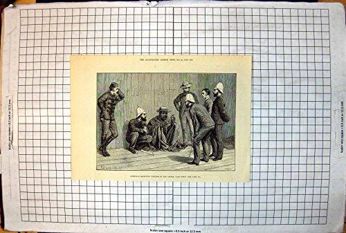 Antiker Druck von Cetewayo Besucher-Schloss Cape Town F. Daddy 1879 Empfangend