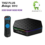 Hindotech 2GB RAM 16GB ROM T95Z Plus Amlogic S912 Octa Core Android TV BOX Media Player 4K HD 2.4G&5G WiFi BT4.0 Gigabit Lan Android 7.1 Smart TV Box