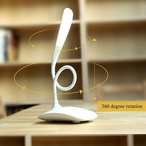 Buy artis l120 led desktop table study lamp white on amazon touch control led table lampstudy lampnight lamp with 18 leds 3 aloadofball Images