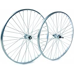 Tru-build Wheels RGR810 - Rueda para bicicletas, color plateado, talla 26 x 1.75 Inch