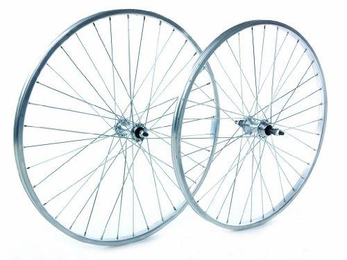 Tru-build Wheels RGR810 - Rueda para bicicletas, color plateado, talla 26 x 1.75 Inch