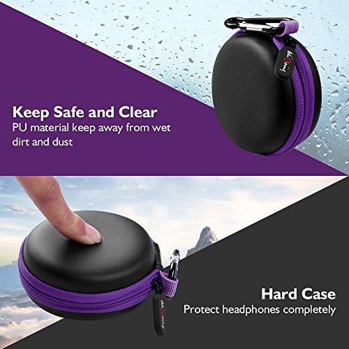 Mini Kopfhörer Tasche mit Schnalle, HiGoing Headset ohrhörer Schutztasche für In Ear Ohrhörer, MP3 Player, iPod Nano, Schlüssel, Lovely Macarons Aussehen (Innenmaß 6.8cm x 6.8cm x 4.0cm) - 3