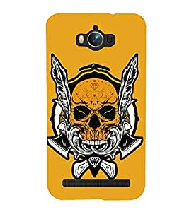 Skull Graffiti 3D Hard Polycarbonate Designer Back Case Cover for Asus Zenfone Max ZC550KL :: Asus Zenfone Max ZC550KL 2016 :: Asus Zenfone Max ZC550KL 6A076IN