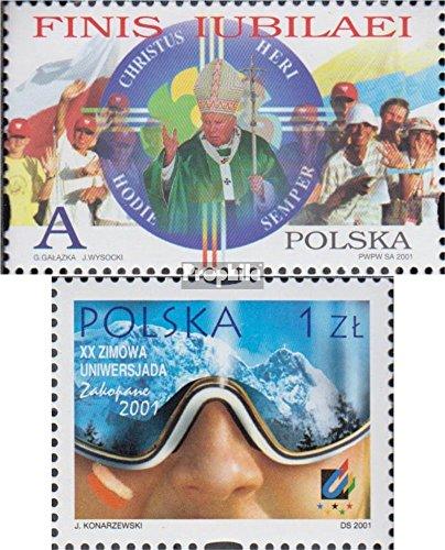 prophila collection polonia 3875,3876 (completa edizione) 2001 cristianesimo, sport (francobolli per i collezionisti) religione