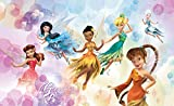 Tapetokids Fototapete - Disney Fairies Klara Emily Rosetta - Vlies 416 x 254 cm (Breite x Höhe) - Wandbild Tinkerbell Silvermist