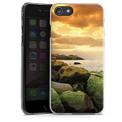 Apple iPhone X Silikon Hülle Case Schutzhülle Küste Landschaft Fels Hard Case transparent