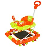 #7: Baybee Cheezy Walker cum Rocker | Music & Light Function With 3 Position Height Adjustable with Control Push Bar ( Orange )