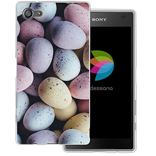 dessana Candy Süßigkeiten Transparente Schutzhülle Handy Case Cover Tasche für Sony Xperia Z5 Compact Oster Eier