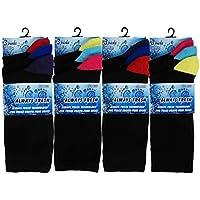 (FF11) da uomo Colorati Punta E Tallone In Cotone Calze da sempre fresco (Cotone Rich Dress Calzini)