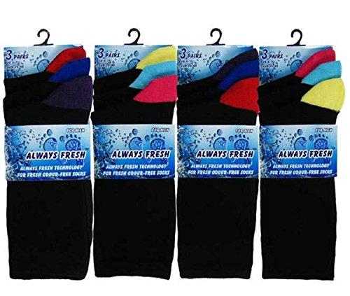 (FF11) da uomo Colorati Punta E Tallone In Cotone Calze da sempre fresco 3pp As (Cotone Rich Dress Calzini)