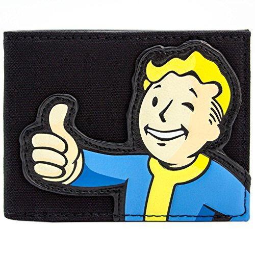 Einzigartige Kostüme Kid (Bethesda Fallout 4 Stoff Vault Boy Schwarz Portemonnaie)