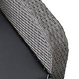 greemotion Rattan-Lounge Bali, Sofa & Bett aus Polyrattan, indoor & outdoor, 2er Garten-Sofa inkl. Kissen & Auflagen, Daybed mit Stahl-Gestell, grau - 8