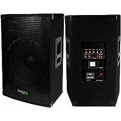 Enceinte amplifiée 800 W IBIZA SOUND DISCO-15-AMP