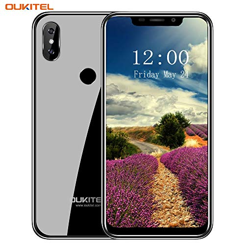 OUKITEL C13 Pro Smartphone 5G/2.4G WIFI Android 9.0 4G LTE Mobile Phone 6.18'19: 9 Notch Display MT6739 Quad Core 2 GB+16 GB 3000mAh Batteria 8MP+2MP+5MP Camera Face ID Fingerprint Unlock(Nero)