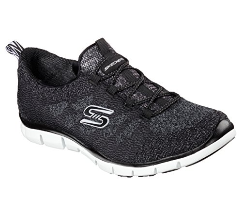 Skechers Sport Donna Bungee Fashion Sneaker Nero / Bianco