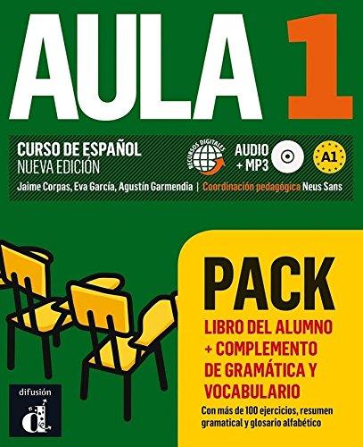 Aula 1 Pack Libro + Complemento de gramática y vocabulario por Jaime Corpas