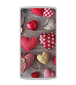 Hearts 2D Hard Polycarbonate Designer Back Case Cover for OnePlus X :: One Plus X :: One+X