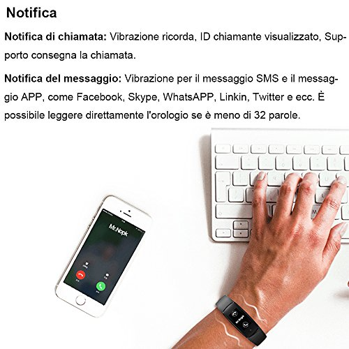 Willful Fitness Tracker Orologio Cardiofrequenzimetro da Polso Smartwatch Android iOS Smart Watch Donna Uomo Bambini Impermeabile IP67 Contapassi Cronometro per iPhone Samsung Xiaomi Huawei