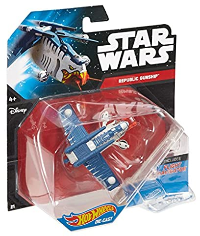 Hot Wheels Star Wars Die Cast Republic Gunship Vehicle