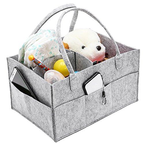 Lovestory Baby Windel Caddy Tragbare Windel-Organizer Korb Kinderzimmer Aufbewahrungsbox Mülleimer mit wechselnden Fächer Feuchttücher für Baby-Shower, für Neugeborene Geschenk.