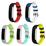 #5: Soft Silicone Watchband Bands Straps Replacement Quick Release for Fitbit Alta HR Smart Watch