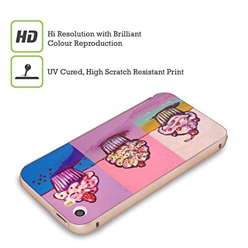 Ufficiale Howie Green Cupcake Cosmico Cibo E Bevande Oro Cover Contorno con Bumper in Alluminio per Apple iPhone 5 / 5s / SE 3 Cupcakes