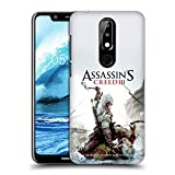 Head Case Designs Ufficiale Assassin's Creed Connor Ascia III Arte Chiave Cover Retro Rigida per Nokia 5.1 Plus / X5