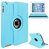Kids Goods Best Deals - iPad Mini 1/2/3 Case - Toprime® 360 Degree Rotating Stand Smart Case Cover for iPad Mini 1 2 3 Case, Blue