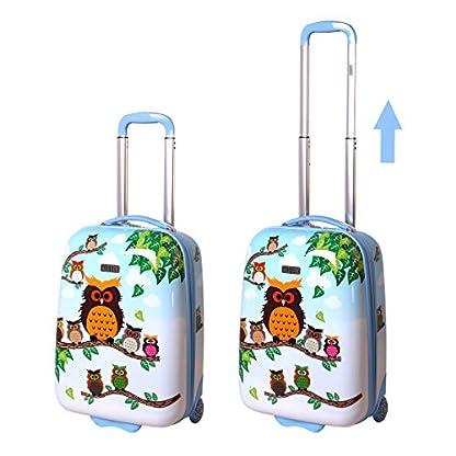 Karry-Kinder-Koffer-Reisekoffer-Trolley-Hartschalen-Handgepck-Mdchen-LED-Skater-Rollen-Eule