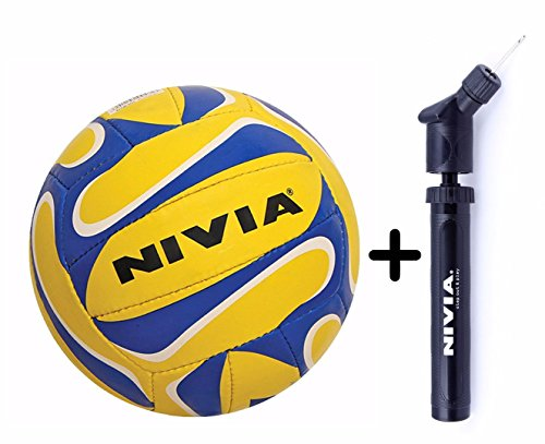 Nivia Trainer 18-P Volleyball (Size 5) + Nivia Double Action Ball Pump  available at amazon for Rs.749