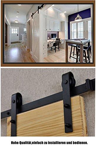 200cm-Herraje-para-Puerta-de-Granero-Corredera-de-madera-Puerta-Deslizante-Herraje-para-Puertas-Corredizas-Interiores-Juego-Completo-para-Puertas-Correderas-Divisores-Puertas-Interiores-y-Armarios-de-