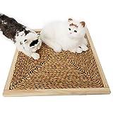 Bordo per grabing per gatti Quadrato in legno massello per gatti Bordo per grana per sisal Tappeto per sisal Paglia per arrampicarsi Telaio per angioletti per gatti Stuoia per dormire Scrather