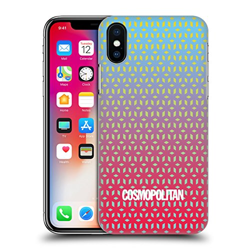 Official Cosmopolitan Ombre 6 Fun Summer Hard Back Case for Apple iPhone X Ombre 7