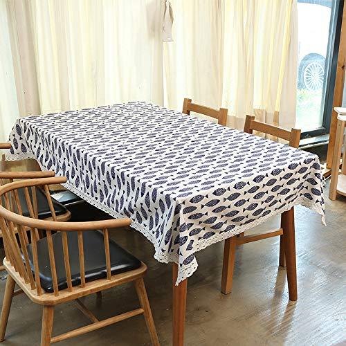 Baumwolle Und Leinen Wasserdichte Tischdecke Nordic Gitter Ins Wind Tee Tisch Wild Tischset Kleine Frische Schreibtischdecke Reichhaltiger Fisch (Wasserdicht) 60X60Cm (Baby-dusche-papier-tischsets)