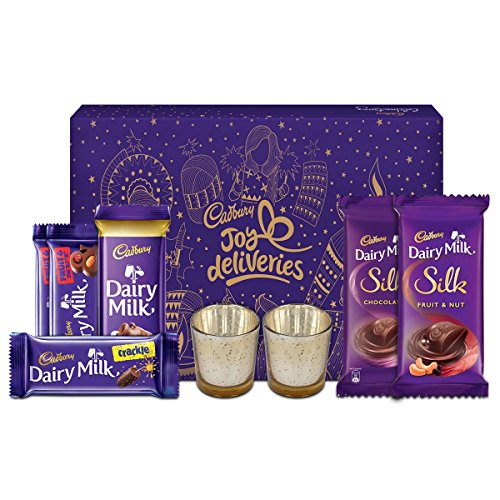 Cadbury Assorted Chocolates Diwali Gift Pack, 275g - With Glass...