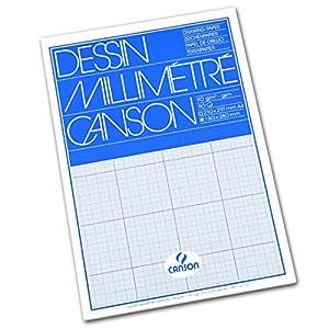 Canson 200067107 Millimeterpapier A4, weiß