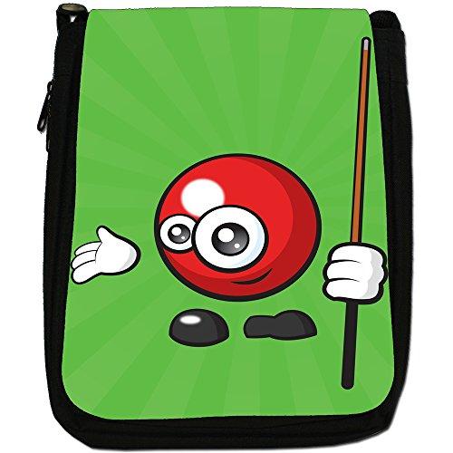 sporticons Happy palloni sportivi Media Nero Borsa In Tela, taglia M Sporticon Red Snooker Ball