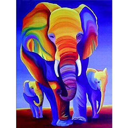 Colorido Elefantes Puzzle 1000 Piezas Para Adultos Niños De Madera De Alta...