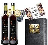 Castell Miquel Monte Sion 2er Geschenk Set | Pleasure of Silence | Stairway to Heaven | Mallorca Liebhaber | Mundus Vini & Berlin Wine Trophy prämiert | Luxus Rotwein Geschenkset