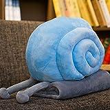 POPRY Schnecke Puppe Plüsch Kissen Decke lustig Geburtstag Geschenk Puppe Freundin ist Luftpolster, Big Blue