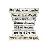 Plankenschild Familienregeln I