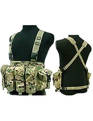 Táctico AK pecho aparejo combate chaleco, con bolsillo para cargador) para Airsoft y Paintball militar CP