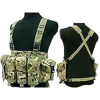 Desconocido Táctico AK Pecho Aparejo Combate Chaleco, con Bolsillo para Cargador para Airsoft y Paintball Militar CP