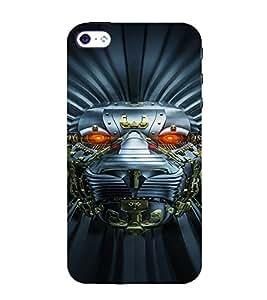 PrintVisa Metallic Lion Robot 3D Hard Polycarbonate Designer Back Case Cover for Apple iPhone 5 :: 5S